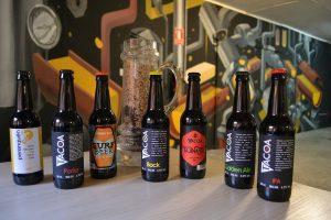 Botellas de cerveza Tacoa, en Marca Canaria