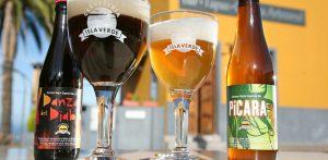Botellas de cerveza Isla Verde en Marca Canaria