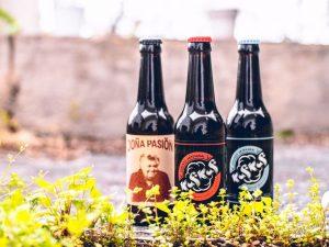 Botellas de cerveza Kuf Kuf en Marca Canaria