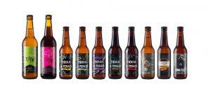 Botellas de cerveza Tierra de Perros en Marca Canaria