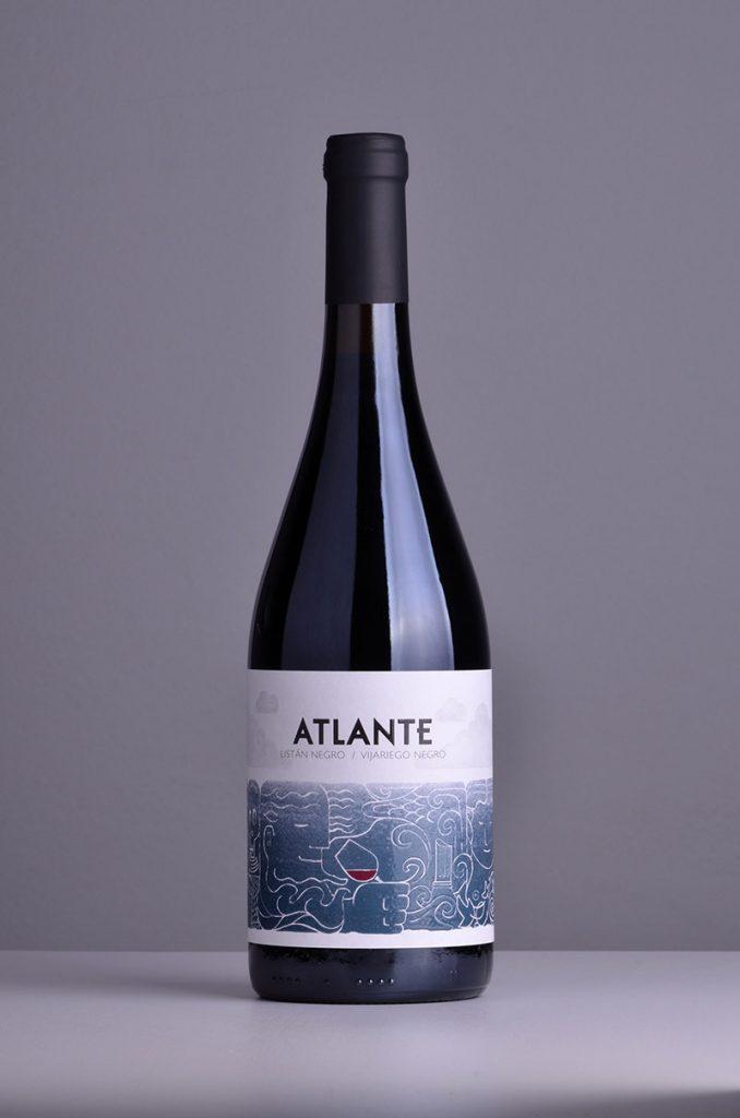Botella de Atlante tinto