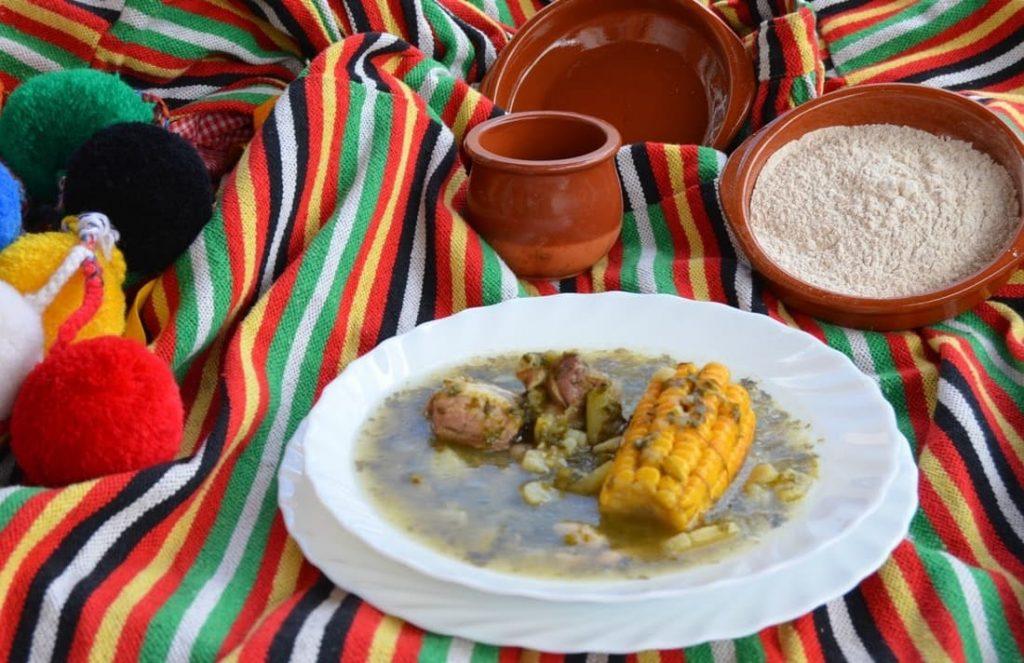 Plato tradicional canario, potaje de berros