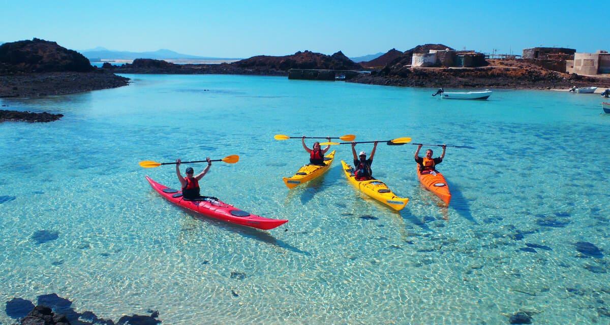 Kayak en Isla del Lobo, Fuerteventura