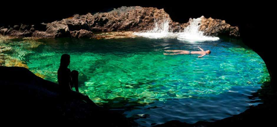 Charco azul, en la isla de El Hierro