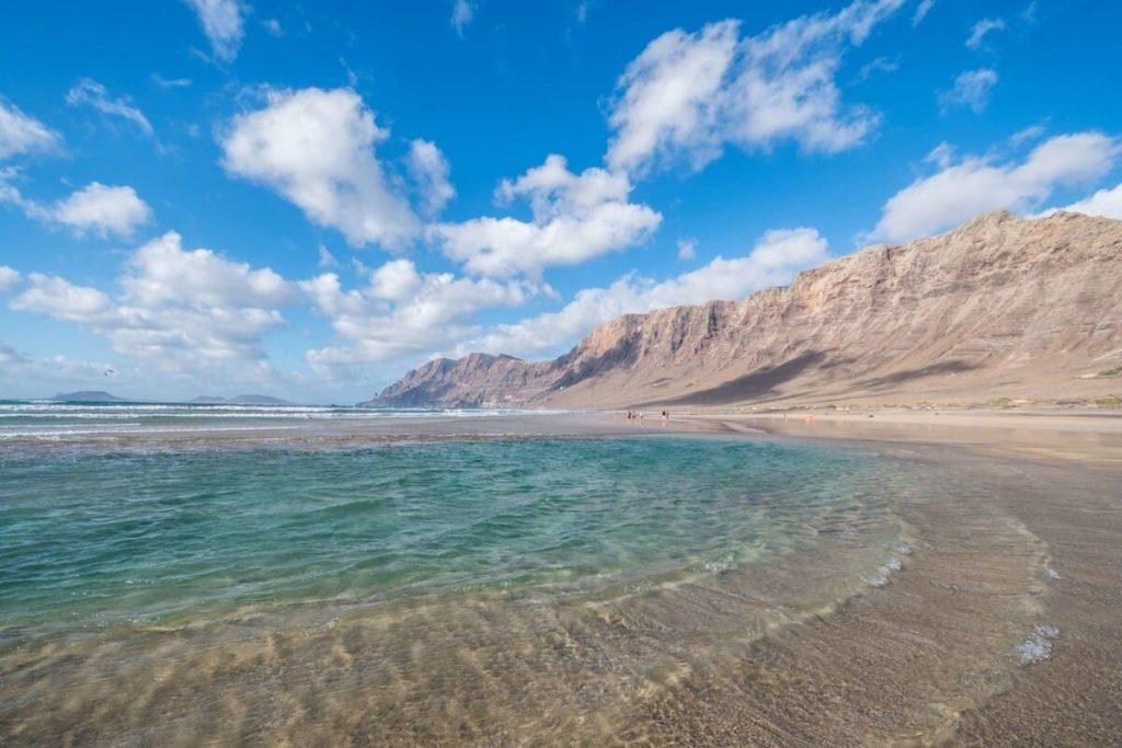 La playa de Famara en Lanzarote