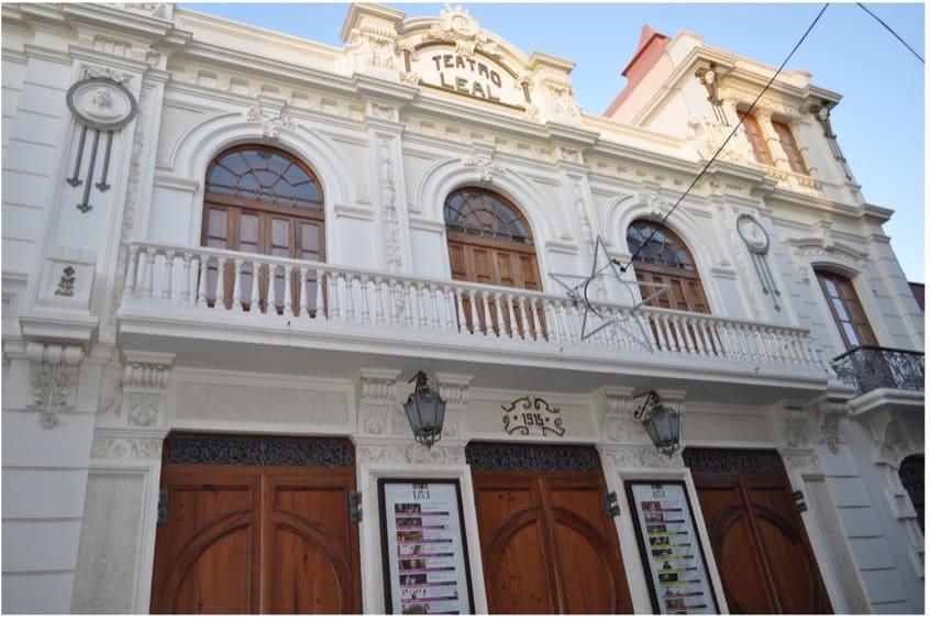 Fachada del Teatro Leal en La Laguna